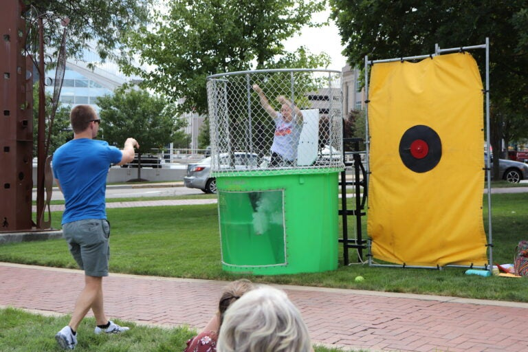 Dunk tank fun with our program director at the All Clinic Retreat 2021